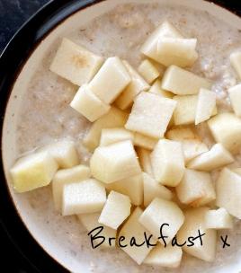 Porridge with Pear